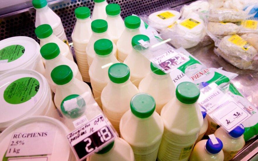 Liesų pieno produktų kainos kyla