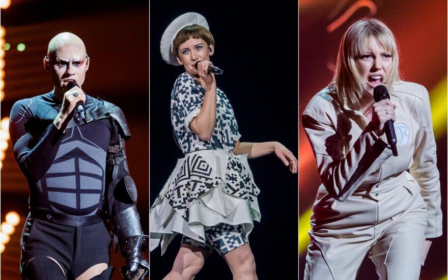 """Nacionalinės """"Eurovizijos"""" atrankos akimirkos"""