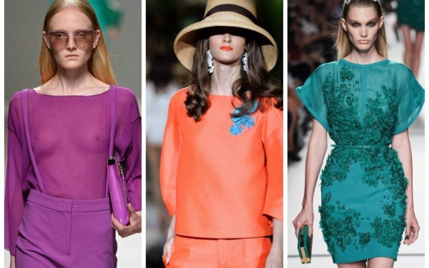 Mados tendencijos pavasariui-vasarai: pasitikite ryškias spalvas!