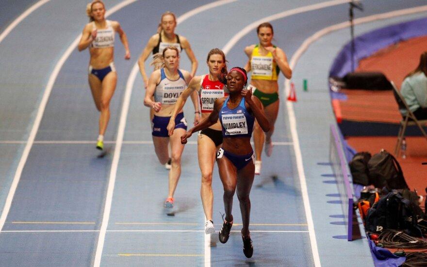 Pasaulio čempionato 400 m pusfinalio pirmasis bėgimas. Agnė Šerkšnienė