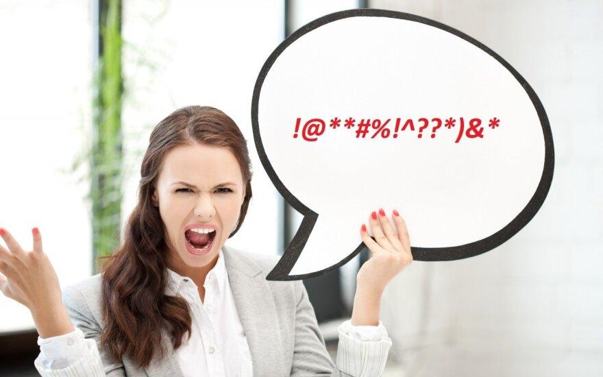 Kalbininkai išskyrė 12 lietuvių dažniausiai vartojamų keiksmažodžių: nuo riebiausių iki švelniausių