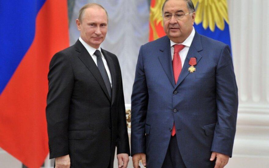 Vladimiras Putinas ir Ališeris Usmanovas