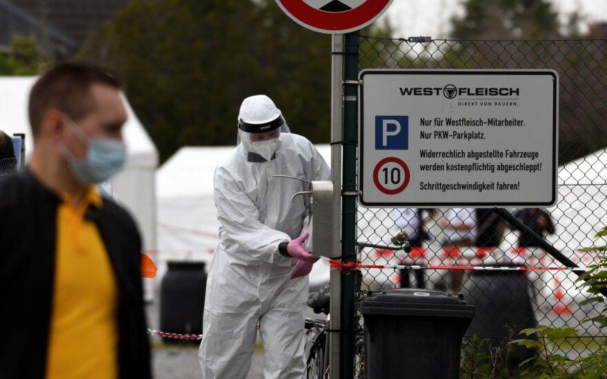 Vokietijoje nerimą kelia ūgtelėjęs užsikrėtimo koronavirusu atvejų skaičius