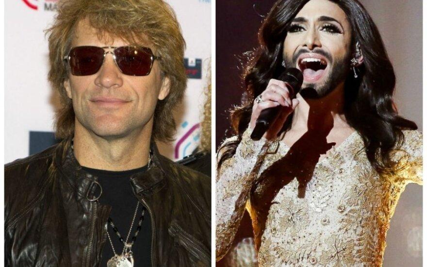 Bon Jovi ir Conchita Wurst