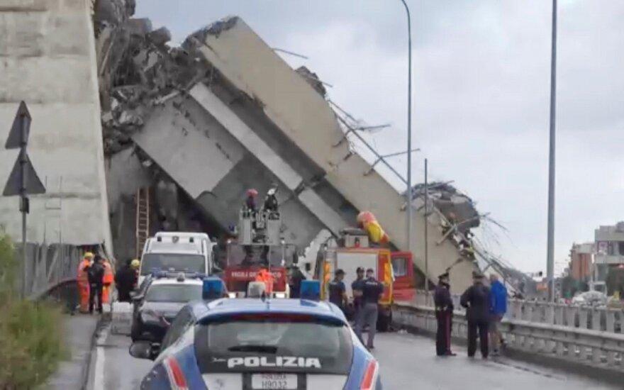 Italijoje sugriuvo greitkelio viadukas