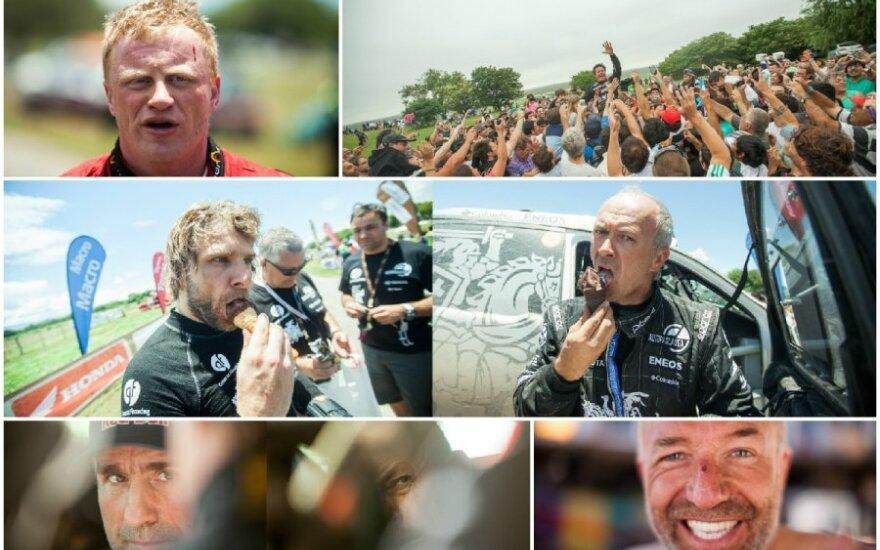 Dakaro lenktynininkų veidai
