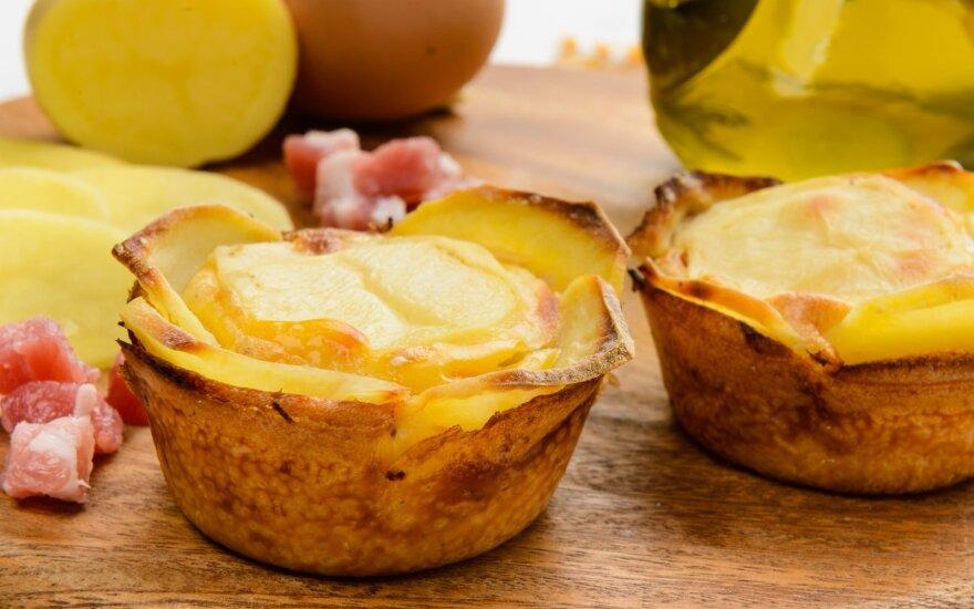 Bulvių plokštainio keksiukai