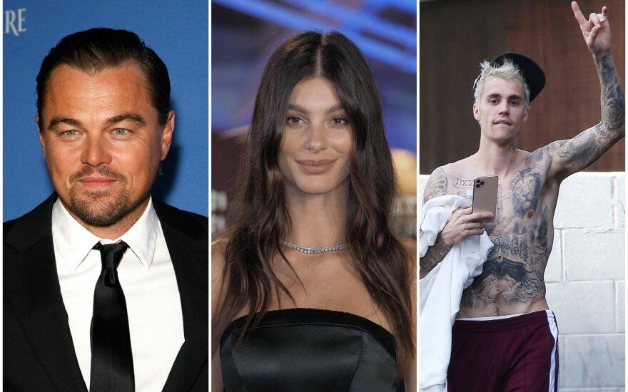Leonardas DiCaprio, Camila Morrone, Justinas Bieberis