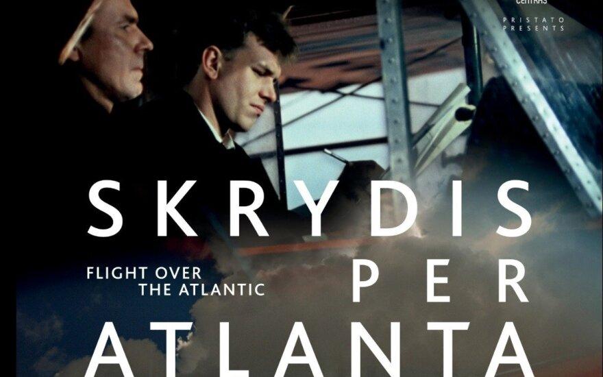 """Filmo """"Skrydis per Atlantą"""" reklaminis plakatas"""