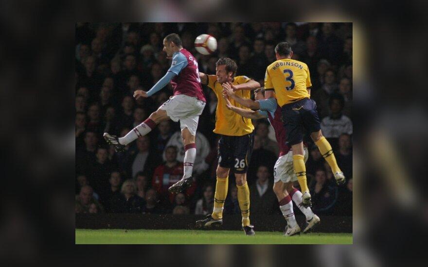 """Anglijos pirmenybėse """"West Ham"""" ir """"West Brom"""" sužaidė be įvarčių"""