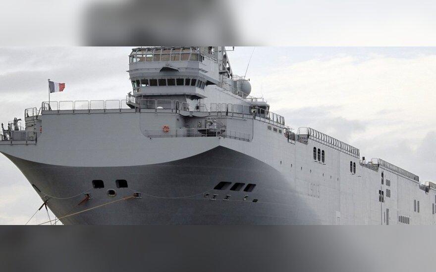 """Prancūzija pradeda pirmojo """"Mistral"""" laivo Rusijai statybą"""