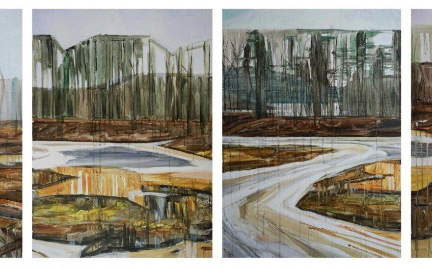 """Personalinė menininkės Mykolės tapybos darbų paroda """"Gamtovaizdis"""""""
