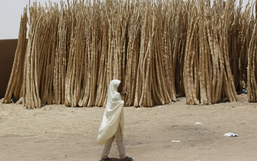 Dykumos miestas Agadezas, Nigeryje