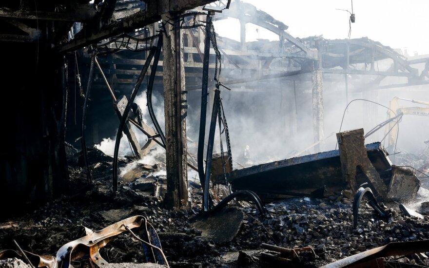 Dėl gaisro Alytuje šaukiamas Vyriausybės Nacionalinio saugumo komisijos posėdis