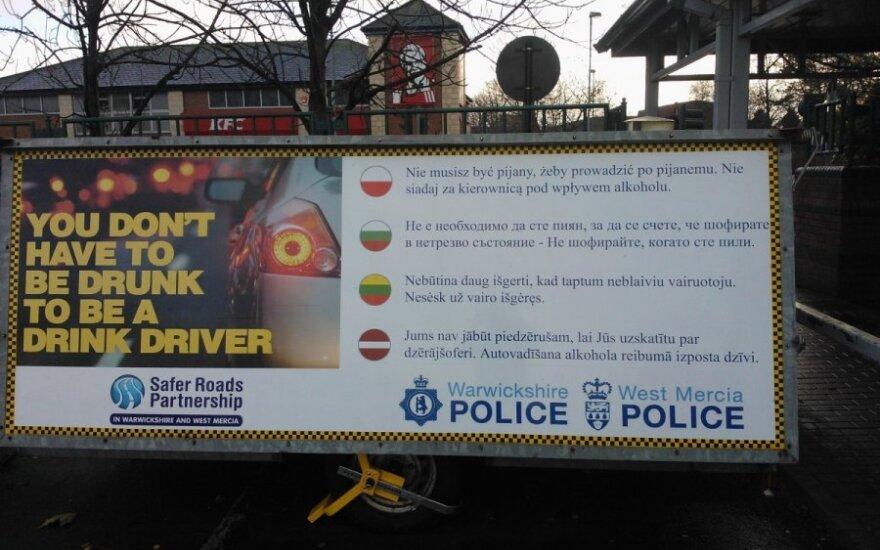 Britų policijos kova su nusikaltimais: lietuvius įspėja lietuviškai