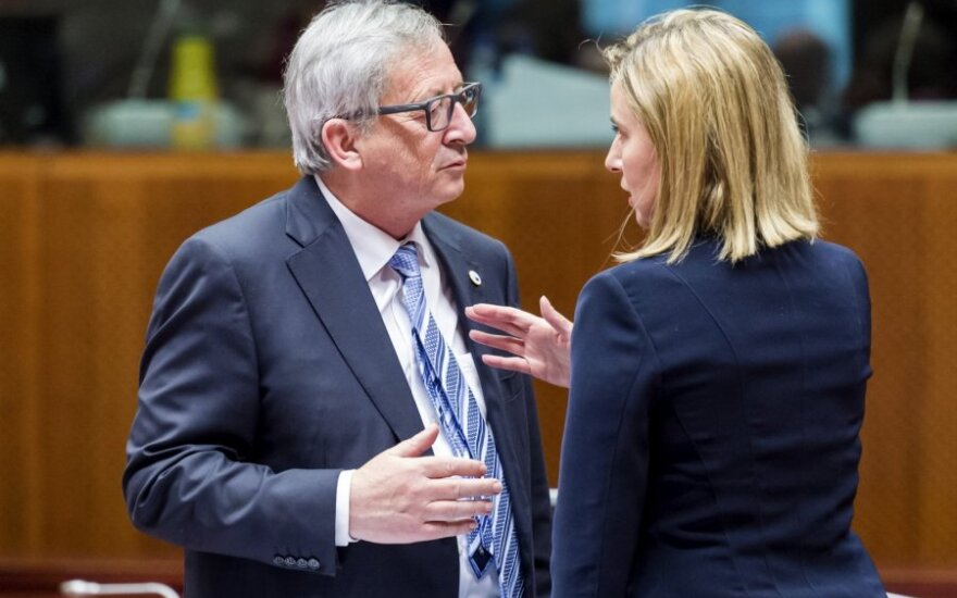 EC President Jean-Claude Juncker and foreign policy chief Federica Mogherini