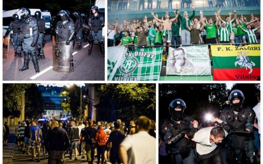 """""""Lech"""" fanai Vilniuje pyktį liejo spjūviais ir keiksmais, bet kumščiais nemojavo"""