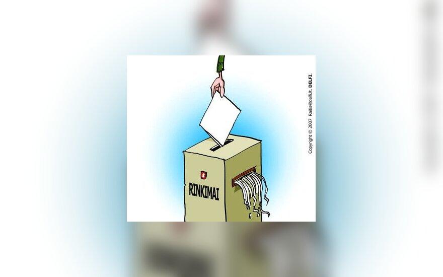 Rinkimai, karikatūra