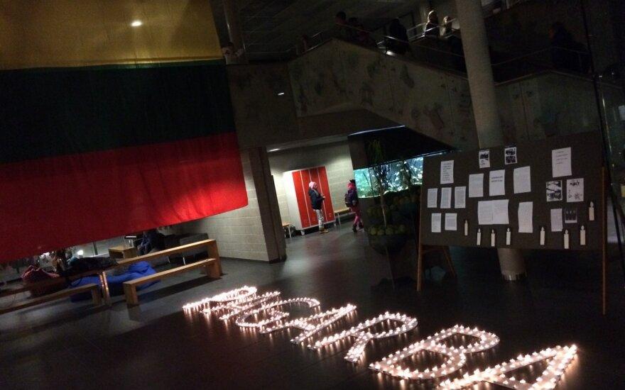 Sausio 13-ąją minėjo ir Vilniaus Balsių progimnazijos mokiniai