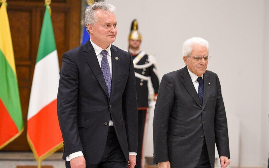 Nausėda po susitikimo su Mattarella: radome sutarimą Rusijos sankcijų klausimu