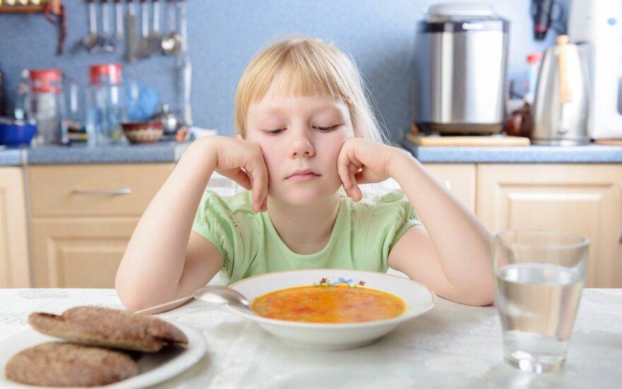 Vaikas nenori valgyti