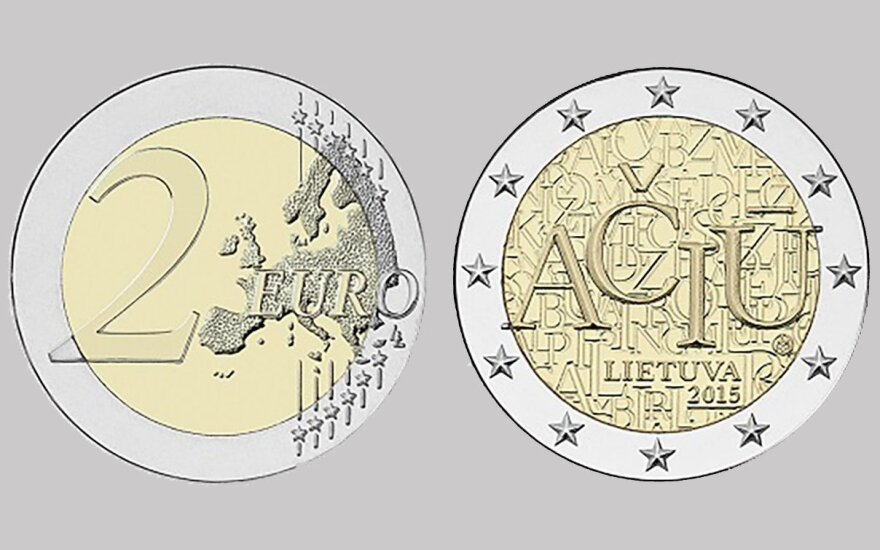 New euro coin a tribute to Lithuanian language