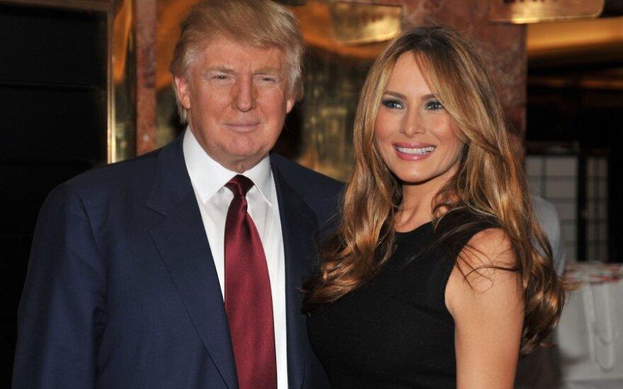 Donaldas Trumpas ir Melania Knauss