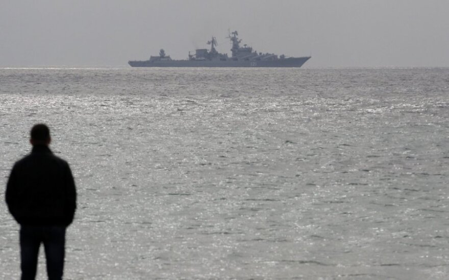 Russian army ship diverts Lithuanian civilian vessel due to shooting exercise