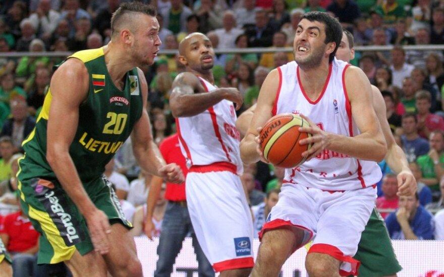 Draugiškos krepšinio rungtynės. Lietuva - Gruzija