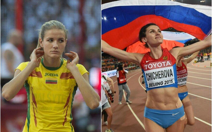 Airinė Palšytė (kairėje) ir Ana Čičerova (A. Pliadžio ir AFP nuotr.)