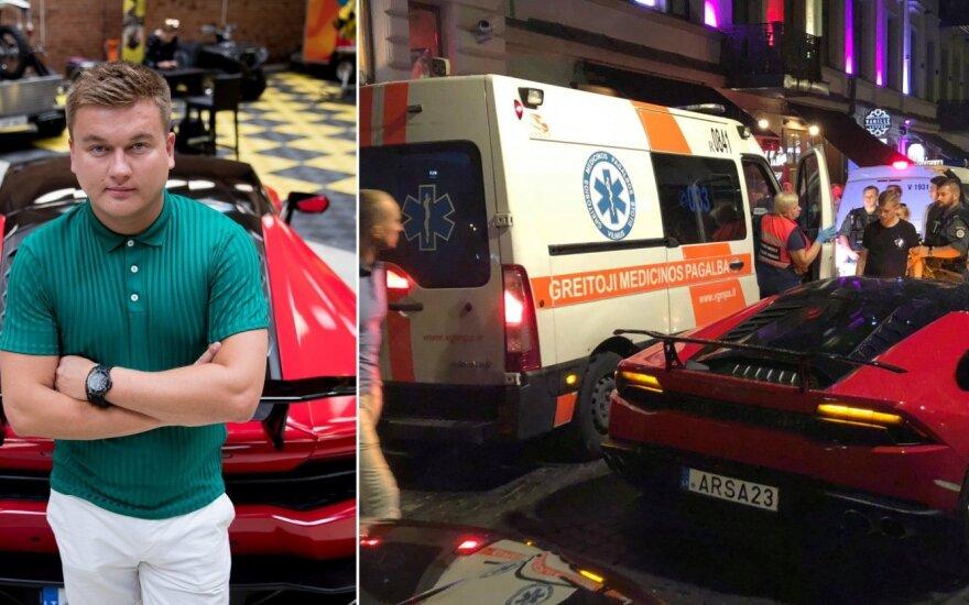 """Vilniaus centre eismą stabdė Pauliaus Aršausko """"Lamborghini"""""""