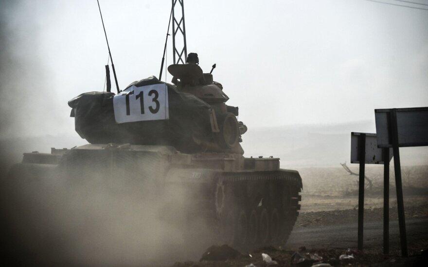 Sirijos sieną kirto dar daugiau Turkijos tankų