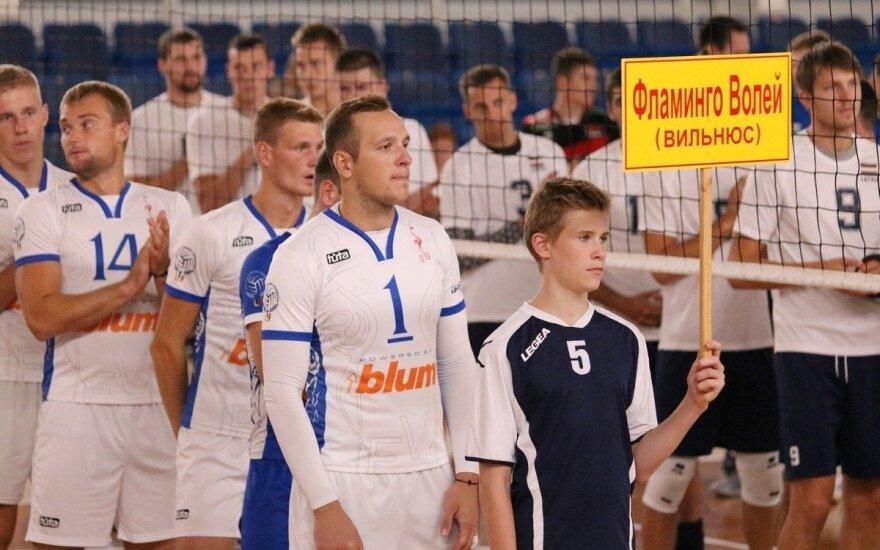 """Vilniaus """"Flamingo Volley-SM Tauro"""" komanda (Baltarusijos tinklinio federacijos nuotr.)"""