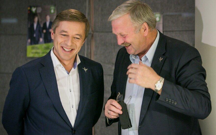 Ramūnas Karbauskis ir Bronis Ropė