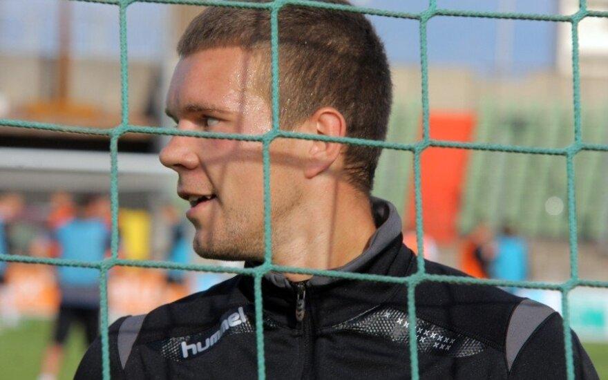 Vartininkas E. Zubas Lenkijos futbolo taurės turnyro rungtynėse praleido penkis įvarčius