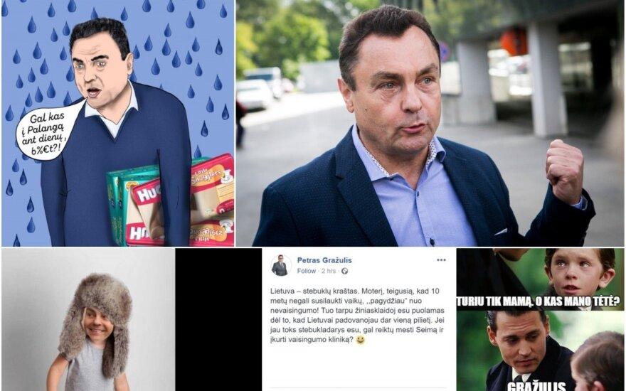 Po veidmainiškų Gražulio išvedžiojimų – kandūs internautų kirčiai