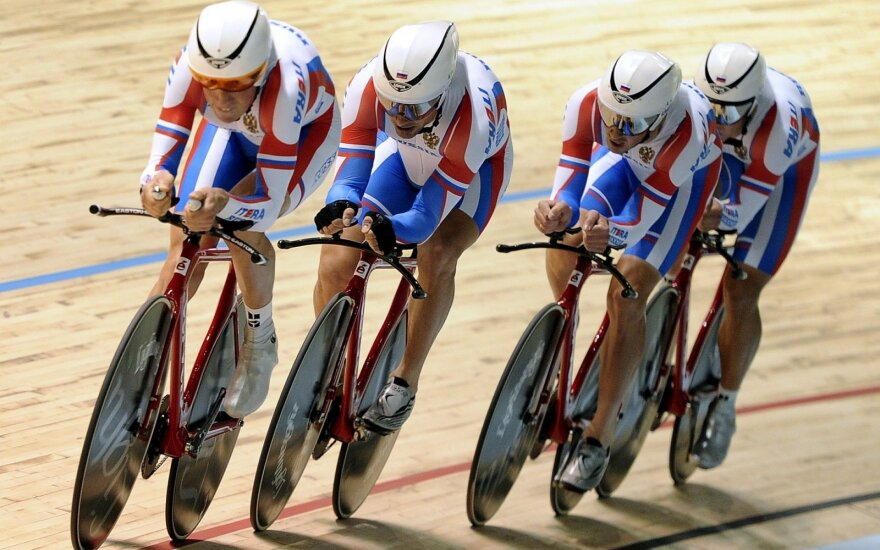 Rusijos treko dviratininkai