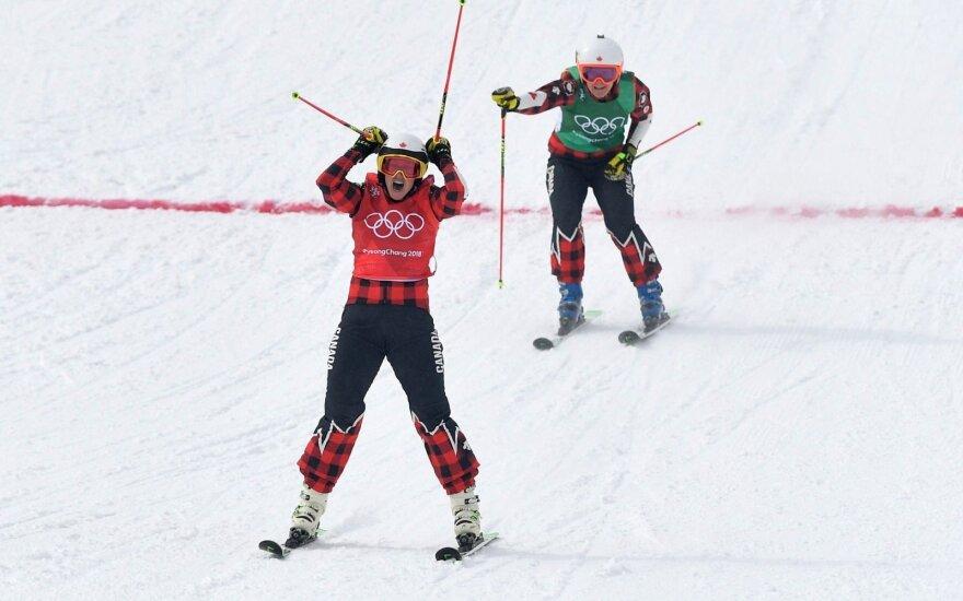 Akrobatinio slidinėjimo krose – kanadietės pergalė