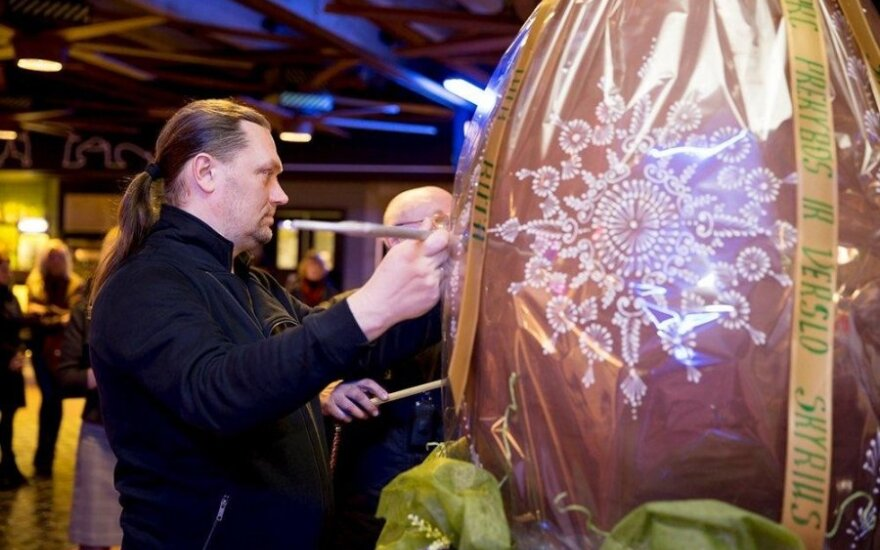 Artėjant Velykoms Šiauliuose sukurtas rekordinis šokoladinis margutis