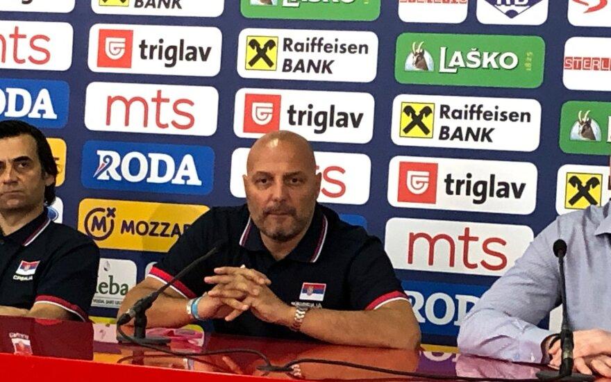 Aleksandras Džordževičius ir Serbijos rinktinės konferencija