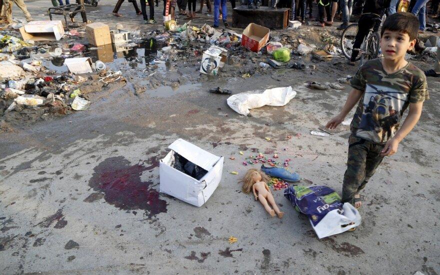 IS sprogdinimų Bagdado turguje aukų padaugėjo iki 73