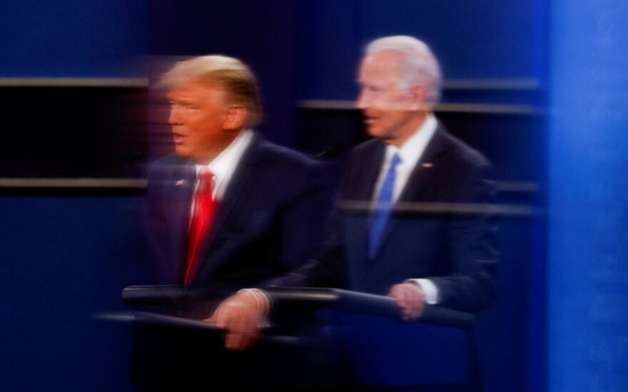 J. Biden ir D. Trump