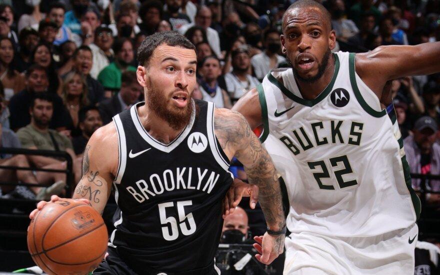 """""""Nets"""" neteko Hardeno, bet ir su Jamesu aplaužė ragus """"Bucks"""""""