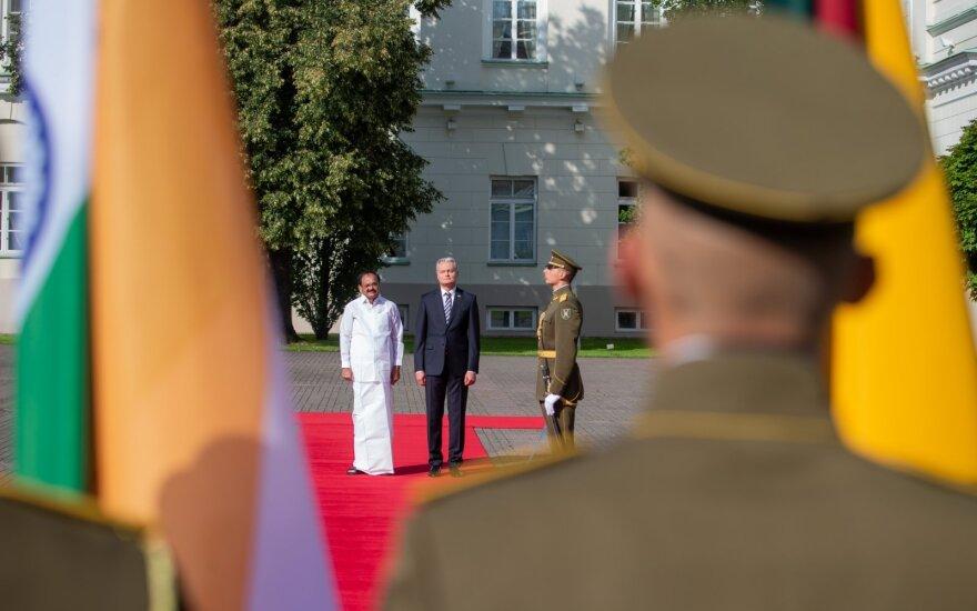 Gitanas Nausėda susitiko  su Indijos viceprezidentu Venkaiah Naidu