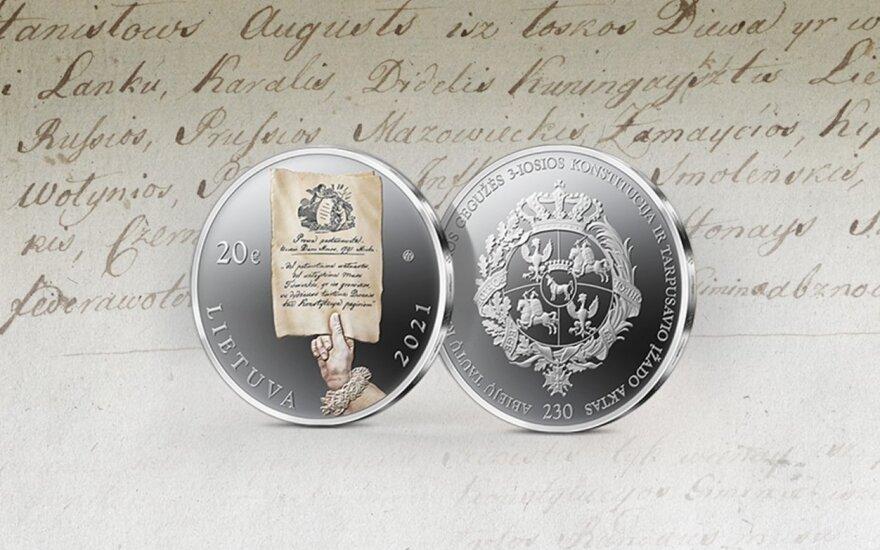 Lietuvos ir Lenkijos bankai išleidžia monetas, skirtas 1791 metų Konstitucijai