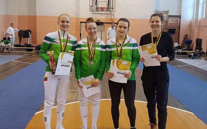 Lietuvos fechtavimo taurėje – Serapinaitės ir Strazdo pergalės