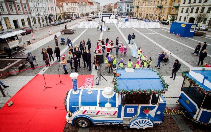 Kalėdos atkeliauja į sostinę: traukinukas važiuos neįprastu maršrutu