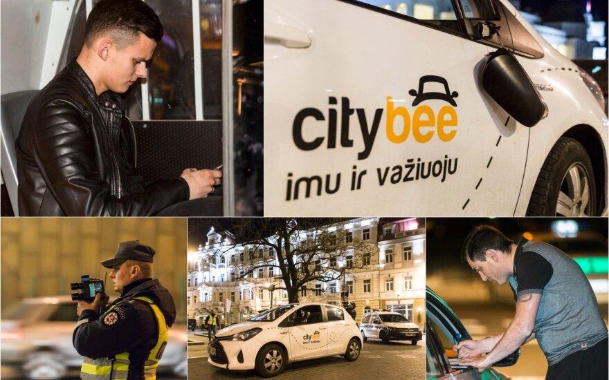 """Naktinės linksmybės Vilniuje: vieni miestą supainiojo su greitkeliu, kiti gėdingai ir brangiai pasivažinėjo """"CityBee"""""""