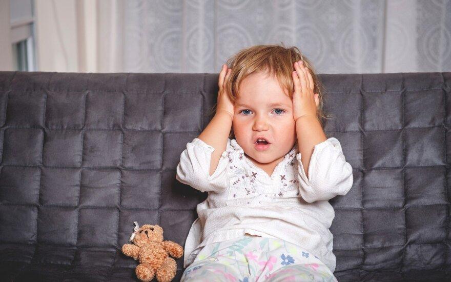 Vaikui skauda galvą