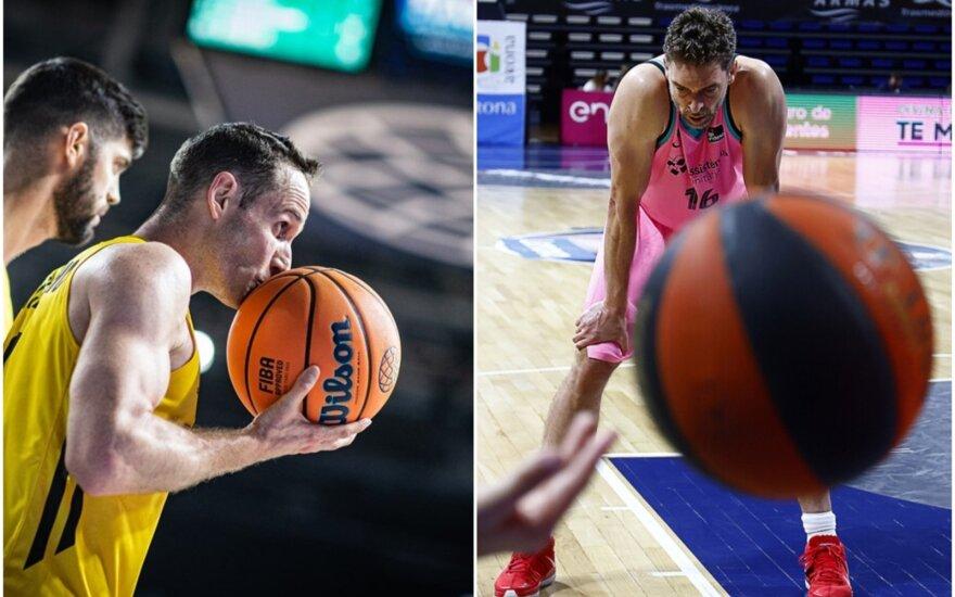 Marcelinho Huertasas (kairėje), Pau Gasolis (Foto: FIBA, Twitter)